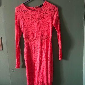 MATERIAL GIRL NEON ORANGE dress MEDIUM